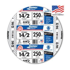 Shop electrical wire cable at lowes southwire romex simpull 250 ft 142 non metallic wire by keyboard keysfo Images