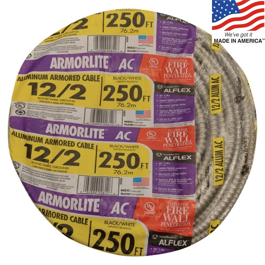 250-ft 12-2 Solid Aluminum BX Cable