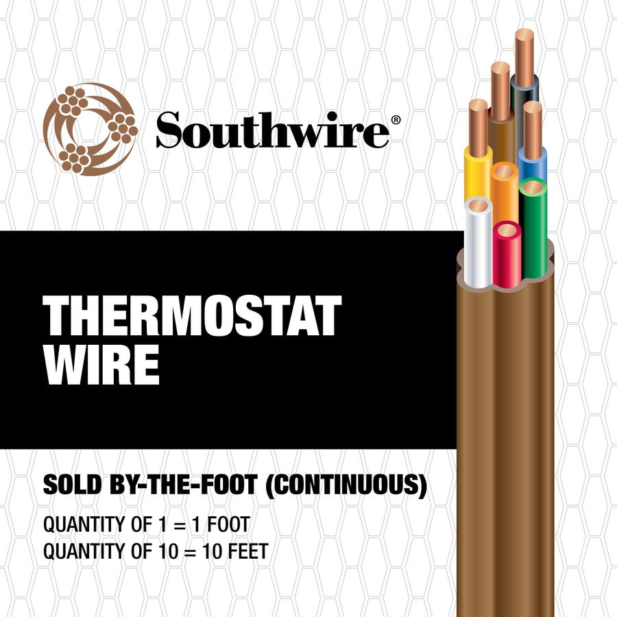 Southwire 18-AWG 8-Conductor Thermostat Wire (By-the-Foot)
