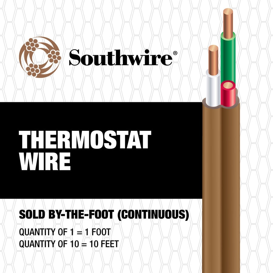 Shop Thermostat Wire At Home A C Wiring Southwire 18 Awg 3 Conductor By The Foot
