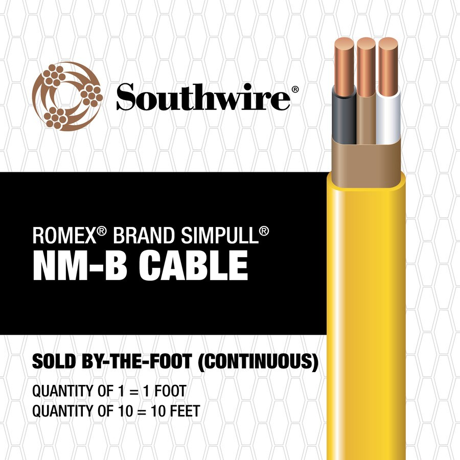 Shop Southwire Romex SIMpull 12/2 Indoor Non-Metallic Jacket Wire ...