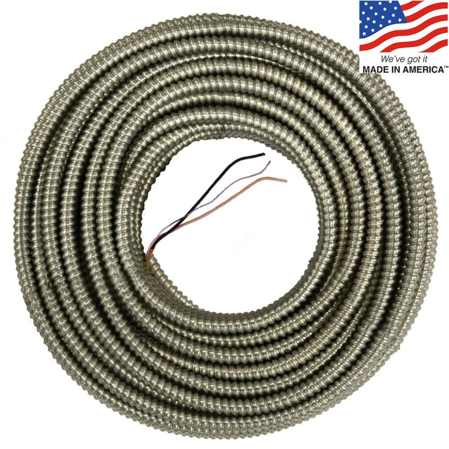 125-ft 10-2 Solid Aluminum BX Cable
