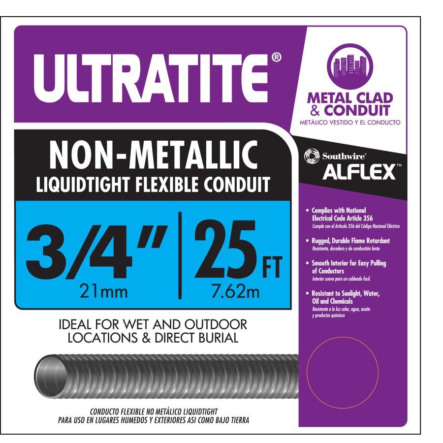 Southwire (Common: 3/4-in; Actual: 0.75-In) Non-Metallic Liquid-Tight 25-ft Conduit