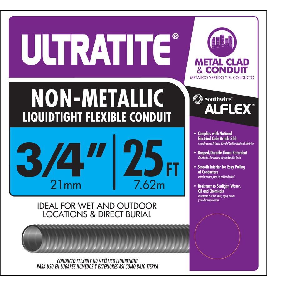 Southwire (Common: 3/4-in; Actual: 0.75-in) Non-Metal Liquid-tight 25-ft Conduit