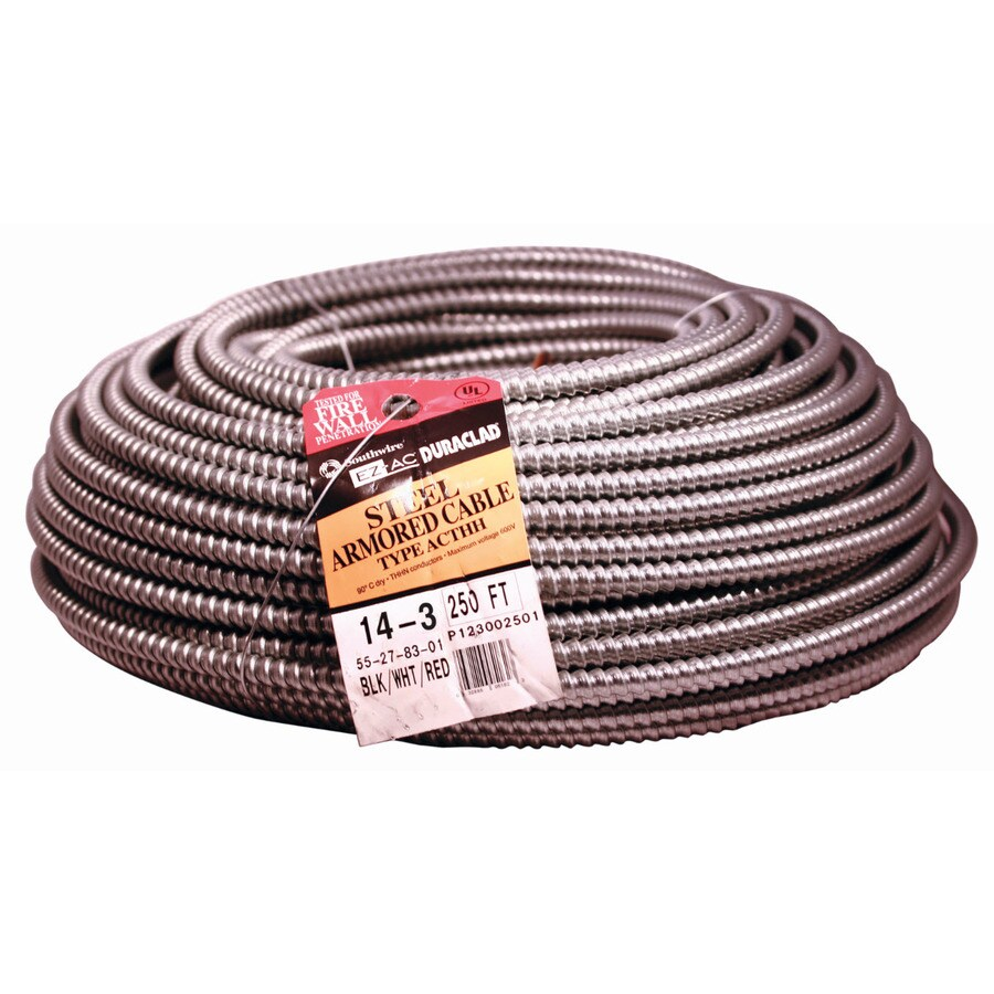 250-ft 14-3 Solid Steel BX Cable