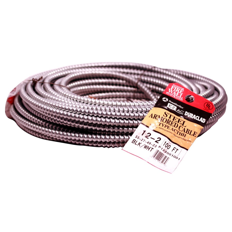 100-ft 12-2 Solid Steel BX Cable