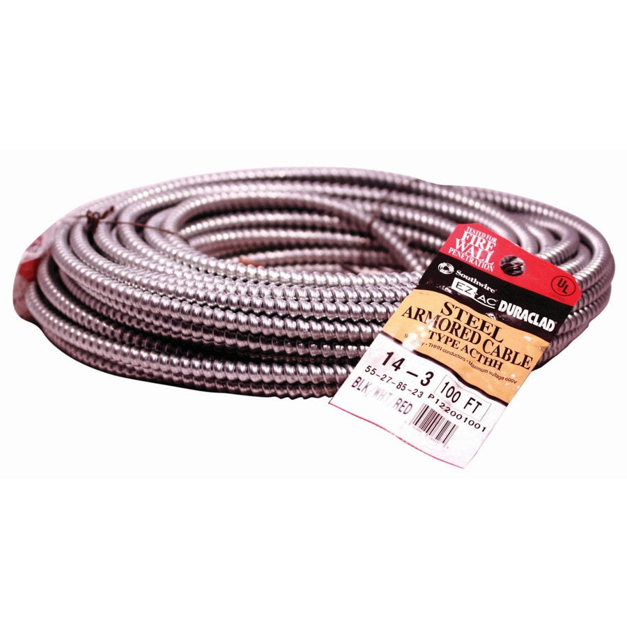 100-ft 14-3 Solid Steel BX Cable