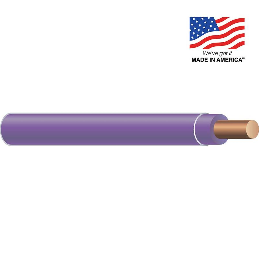 12-AWG Solid Purple Copper THHN Wire (By-the-Foot)