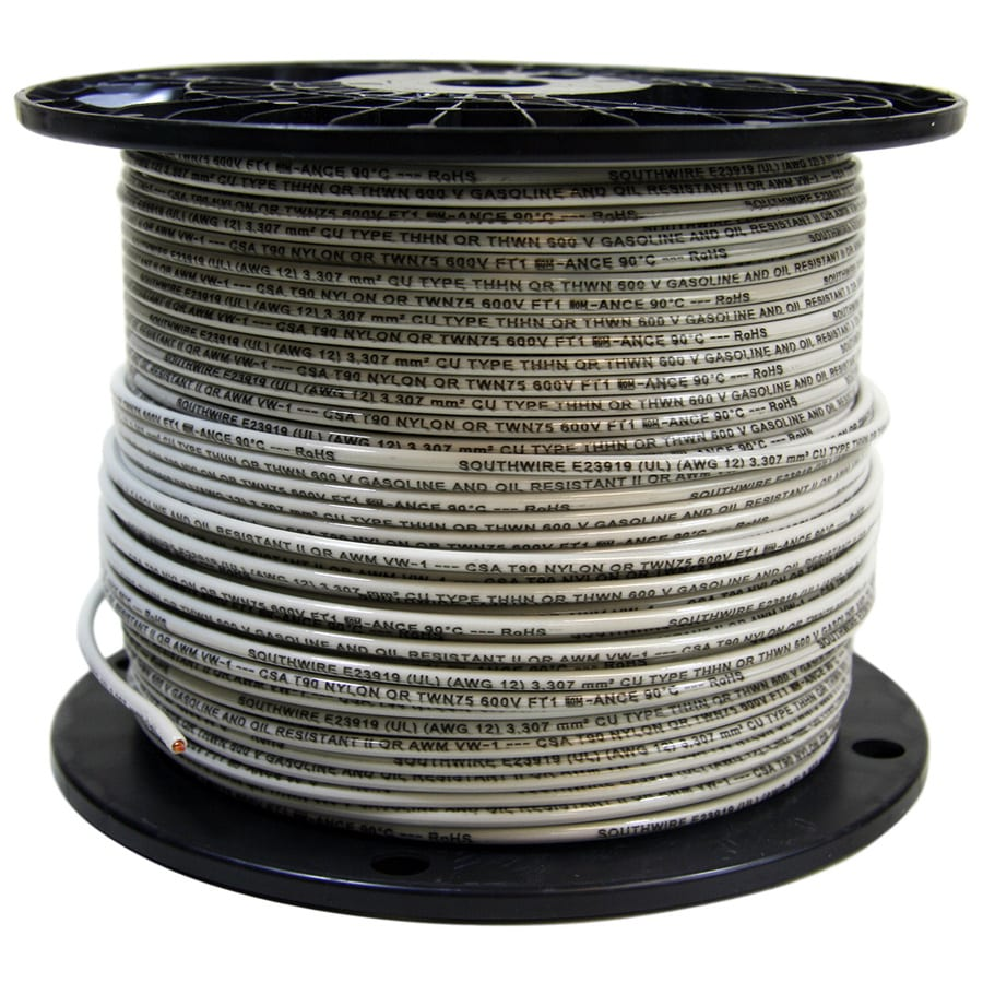 Southwire 500 Ft 18 Awg Stranded White Tffn Wire By The Roll In The Tffn Wire By The Roll Department At Lowes Com