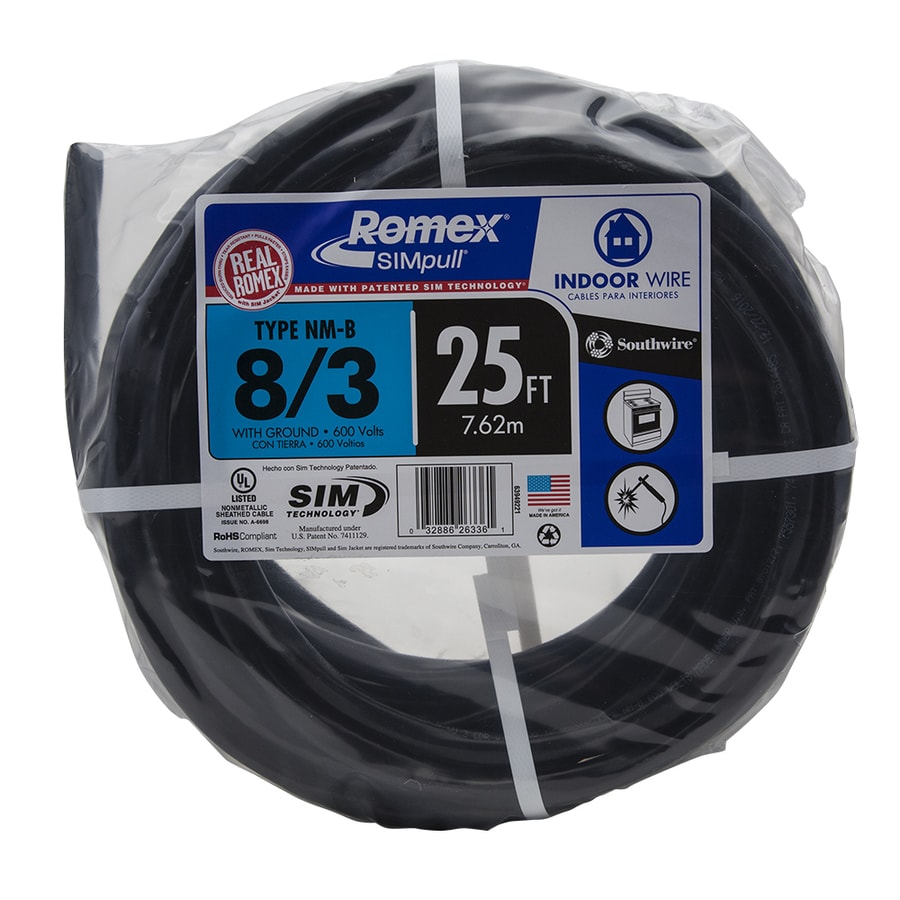 Romex SIMpull 25-ft 8-3 Non-Metallic Wire (By-the-Roll)