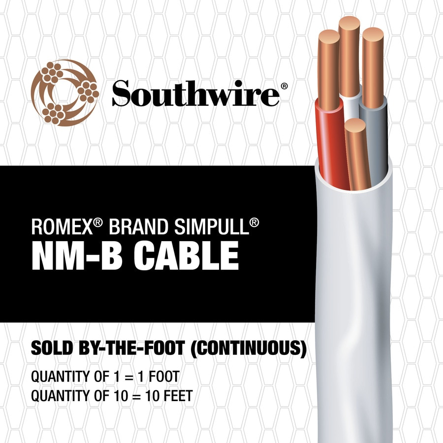 Romex SIMpull 14-3 Indoor Non-Metallic Jacket Wire (By-the-Foot)