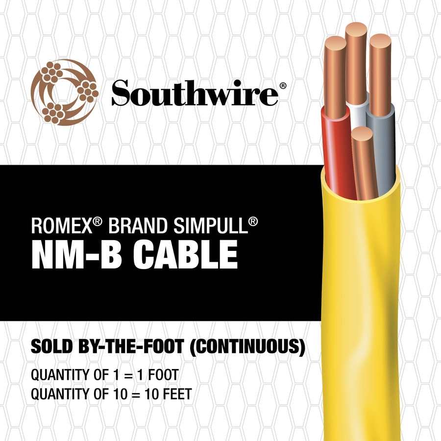 Shop Southwire Romex SIMpull 12/3 Indoor Non-Metallic Jacket Wire ...