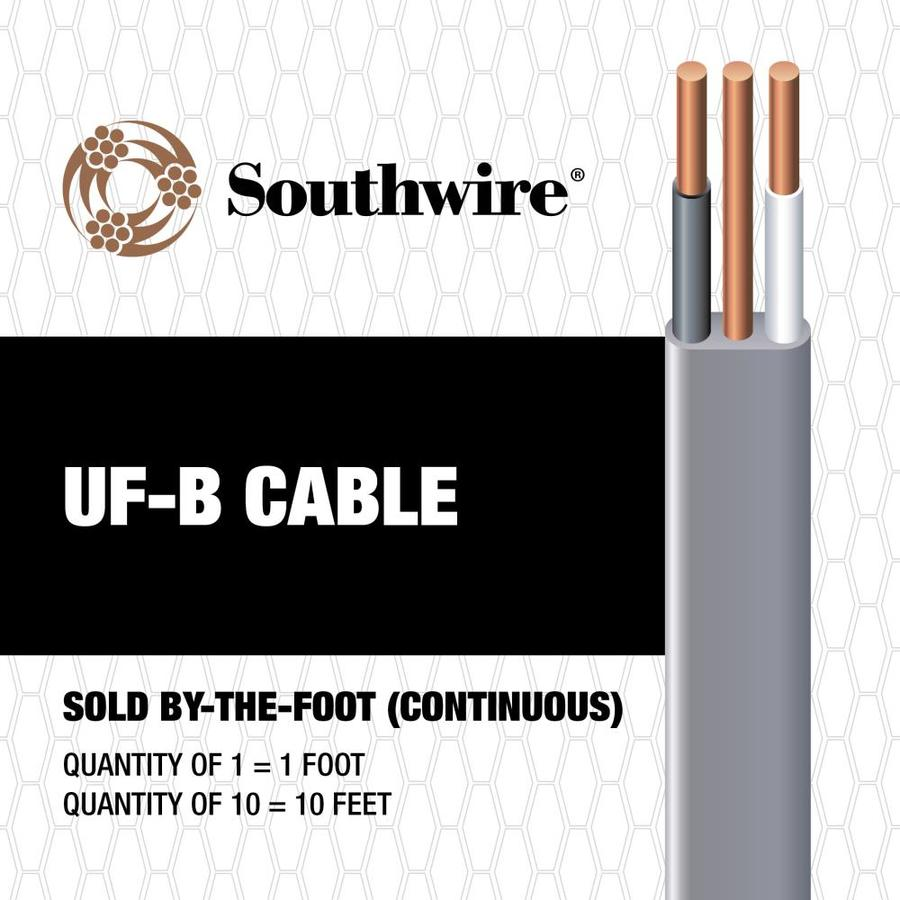 Shop Southwire 14 AWG - 2 UF Wire (By-the-Foot) at Lowes.com
