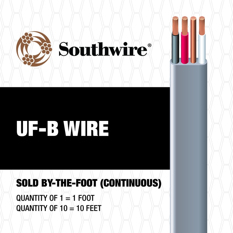 Southwire 8 3 Uf Wire By The Foot At Electrical Wiring Outside Underground