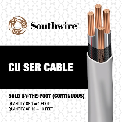 Southwire 2 4 Copper Ser Service Entrance Cable By The