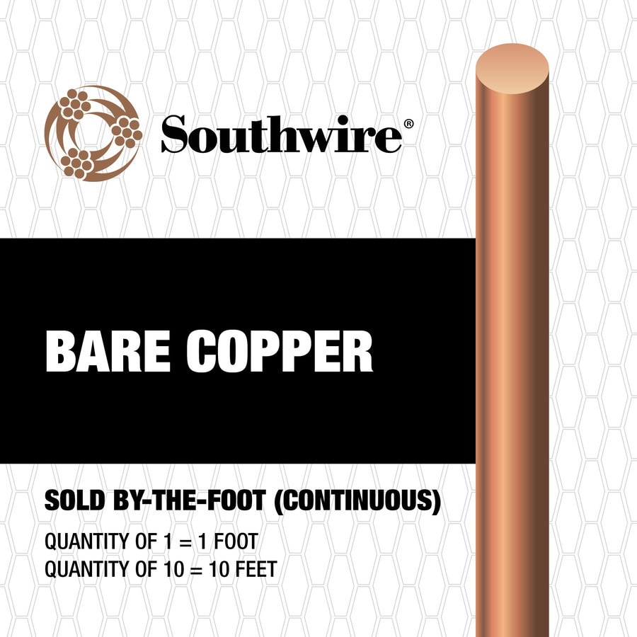 4-Gauge Solid Soft Drawn Copper Bare Wire (By-the-Foot)