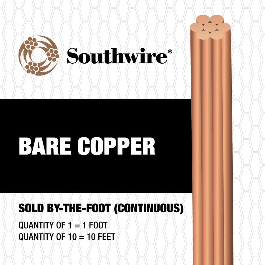 6-Gauge Stranded Soft Drawn Copper Bare Wire (By-the-Foot)