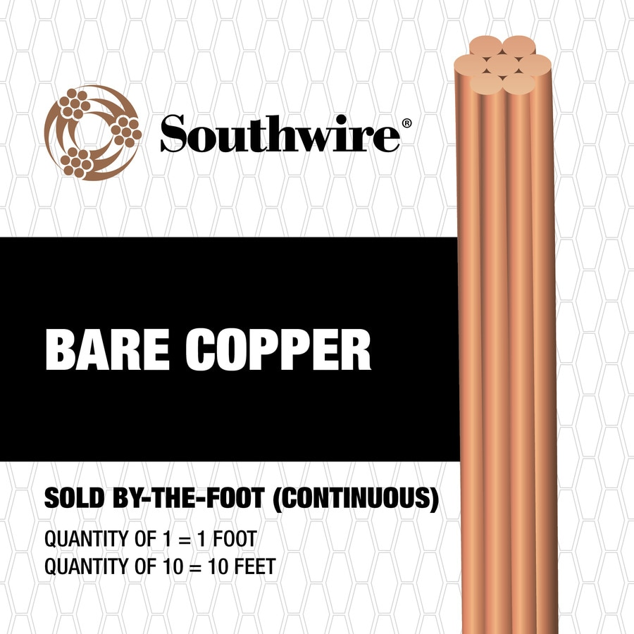 4-Gauge Stranded Soft Drawn Copper Bare Wire (By-the-Foot)