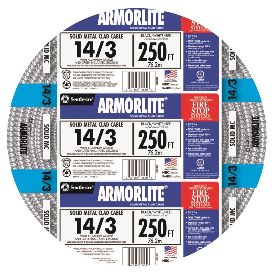 Armorlite 250-ft 14-3 Solid Aluminum MC Cable