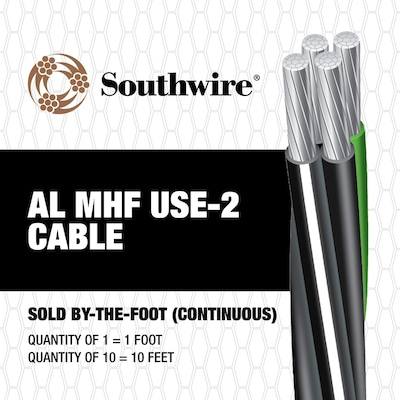 Southwire 4/0-4/0-4/0-2/0 Aluminum Mobile Home Feeder ... on