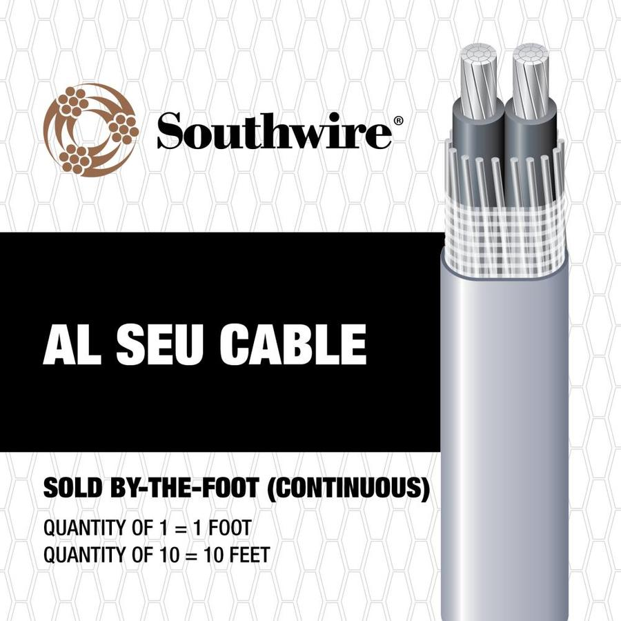2-2-2 Aluminum SEU Service Entrance Cable (By-the-Foot)