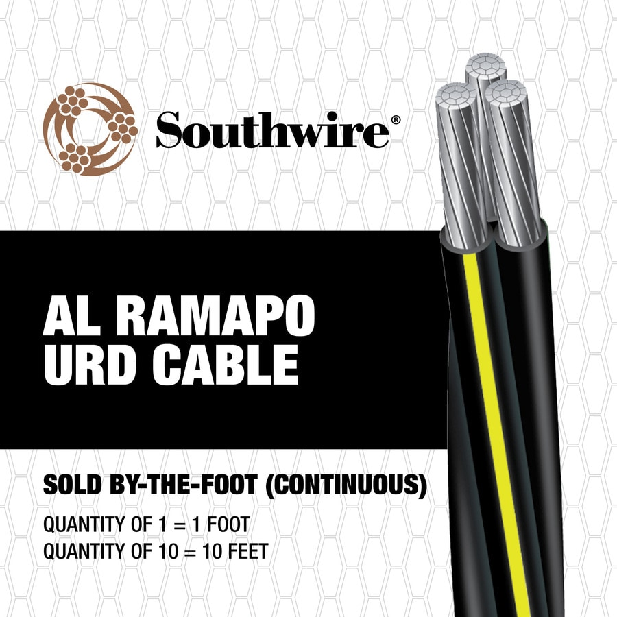 RAMAPO 2 Aluminum Urd Service Entrance Cable (By-the-Foot)