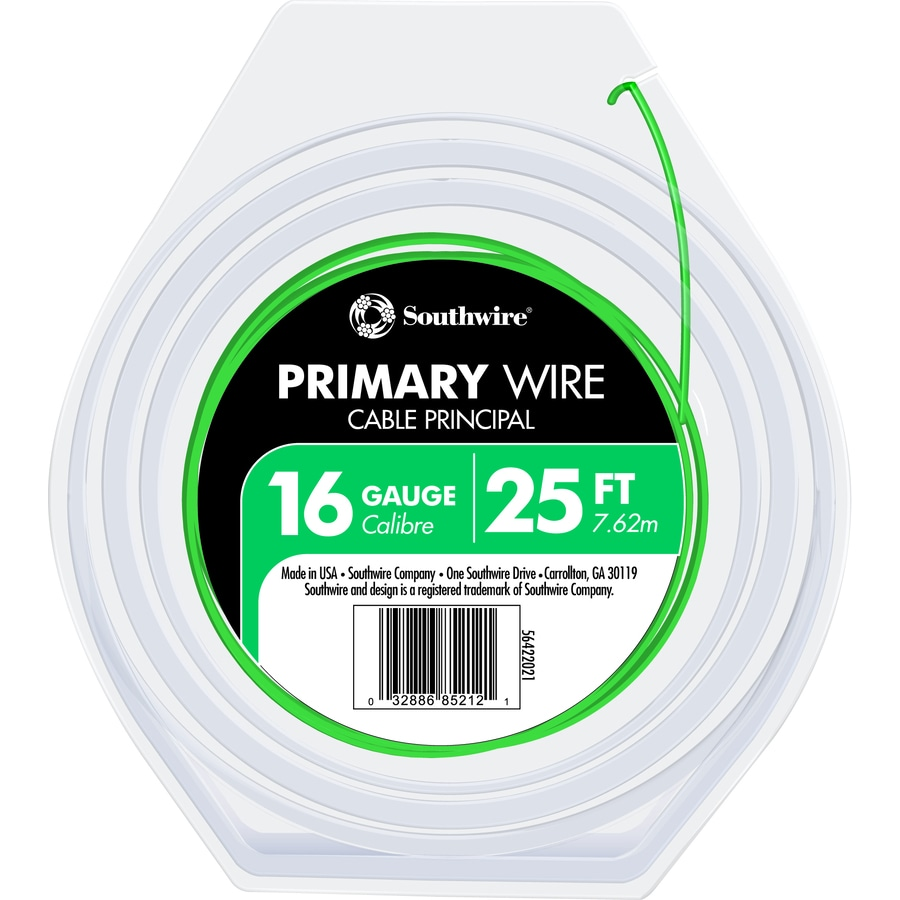 Southwire 25-ft 16-Awg Stranded Green GPT Primary Wire