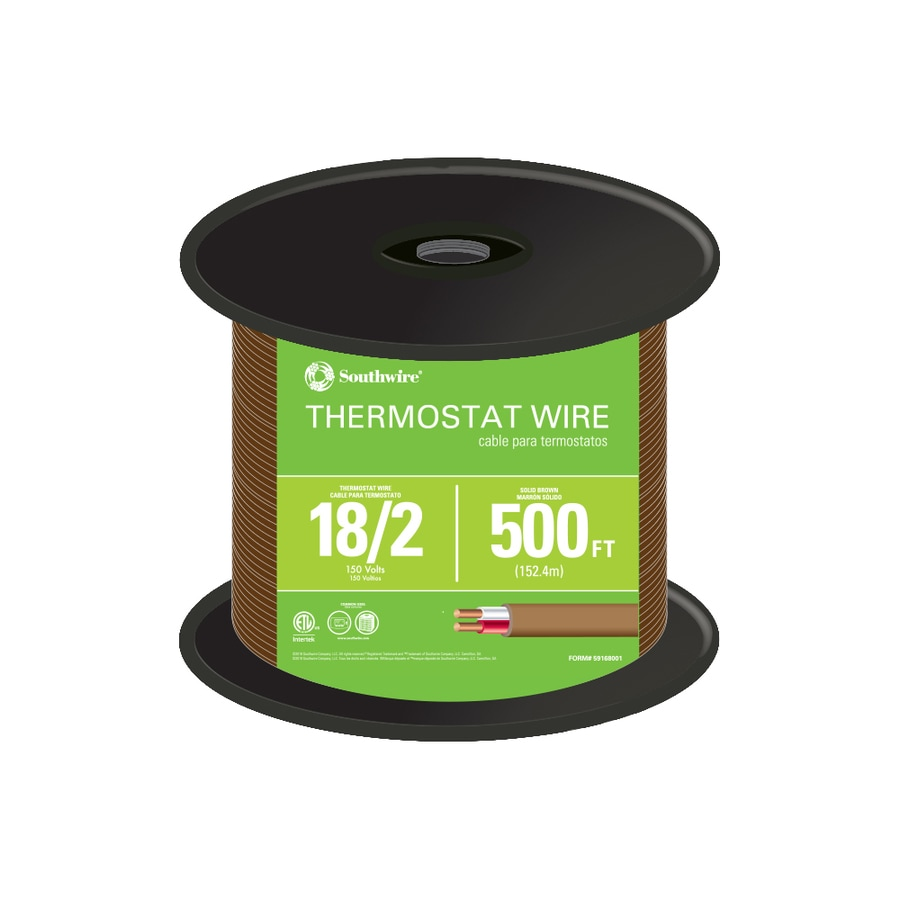 500-ft 18-AWG 2-Conductor Thermostat Wire (By-the-Roll)
