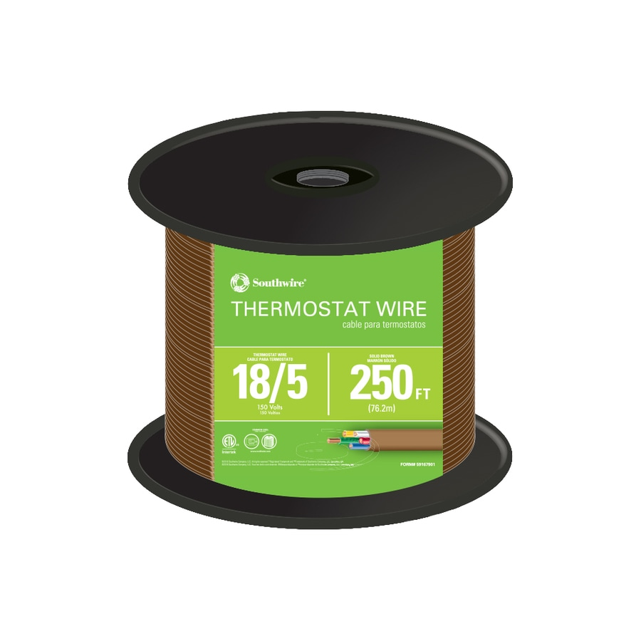 250-ft 18-AWG 5-Conductor Thermostat Wire (By-the-Roll)