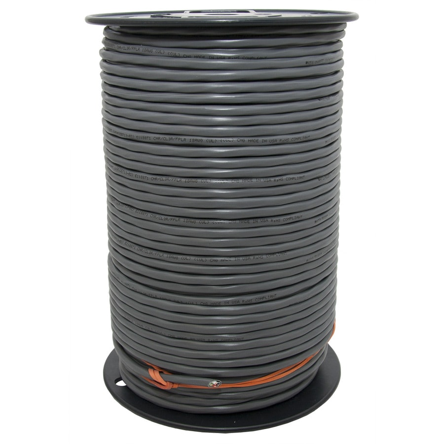 500-ft 18-2 Solid Unshielded Grey Security Cable