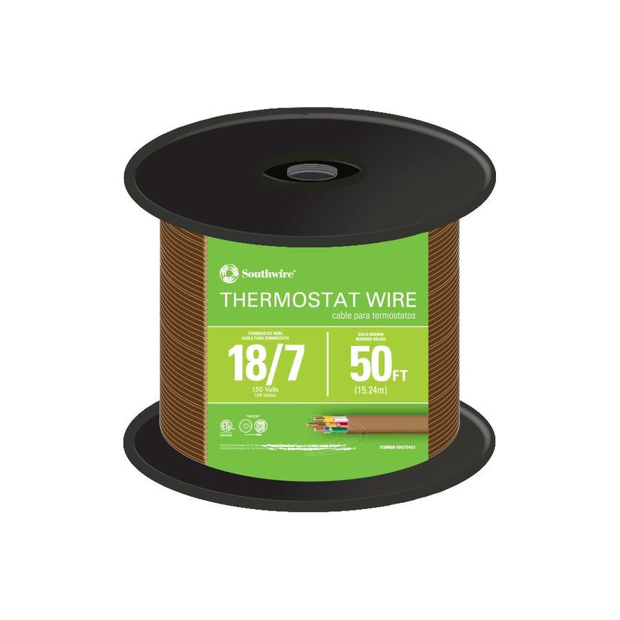 Shop Southwire SIMpull 50-ft 18-AWG 7-Conductor Thermostat Wire ...