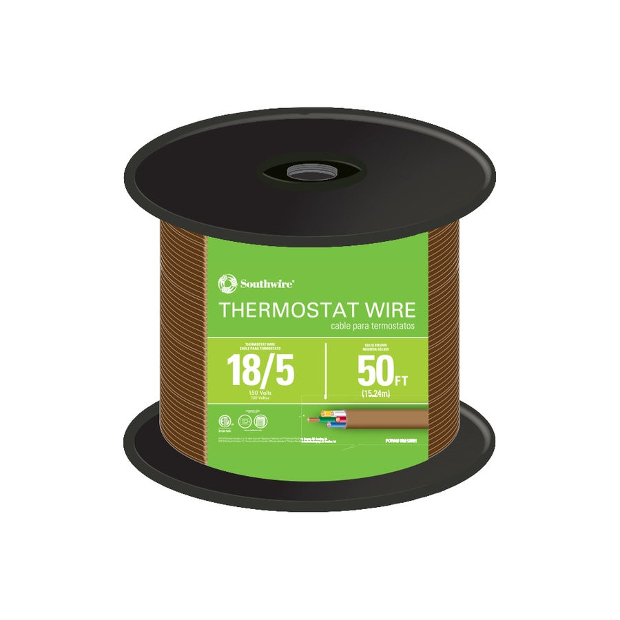50-ft 18-AWG 5-Conductor Thermostat Wire (By-the-Roll)