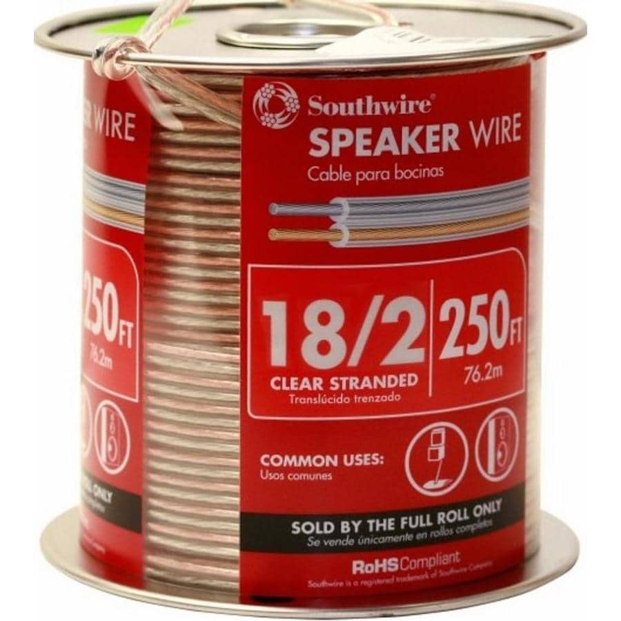 Southwire 250-ft 18-Awg to 2 Standard Speaker Wire (By-the-Roll)