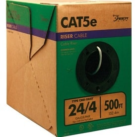 Southwire 500-ft 24 4 Cat 5e Riser Gray Data Cable Pull Box