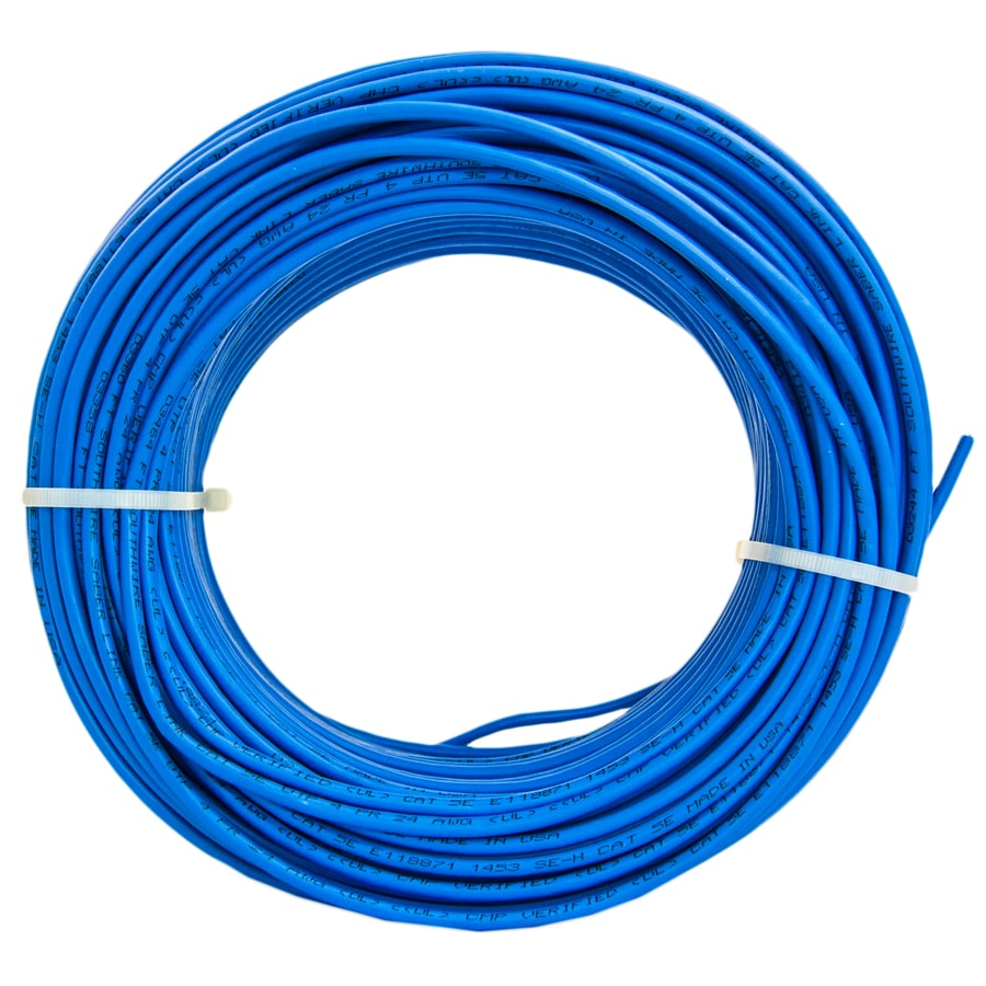 Shop Southwire 250-ft 24/4 CAT 5E Plenum Blue Data Cable at Lowes.com