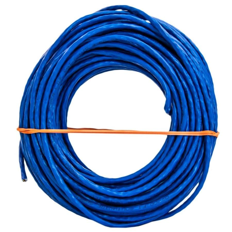 Shop Data Cable At Wiring An Outlet With 6 Wires Southwire 100 Ft 23 Awg 4 Cat Ethernet Riser Blue