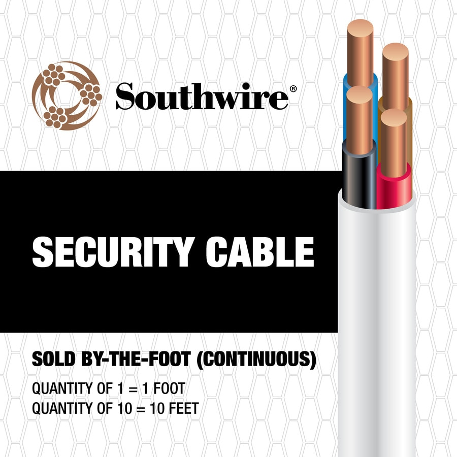 Shop Southwire 1-ft 22- 4 Solid Unshielded Red Security Cable at ...