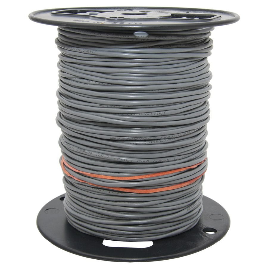 1,000-ft 14-4 Stranded Unshielded Grey Security Cable