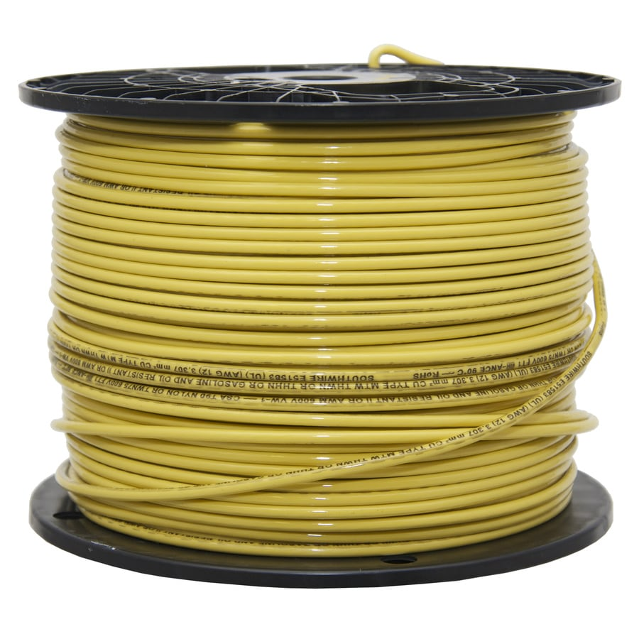 12 Thhn Wire | Shop Southwire 500 Ft 12 Awg Solid Yellow Copper Thhn Wire By The