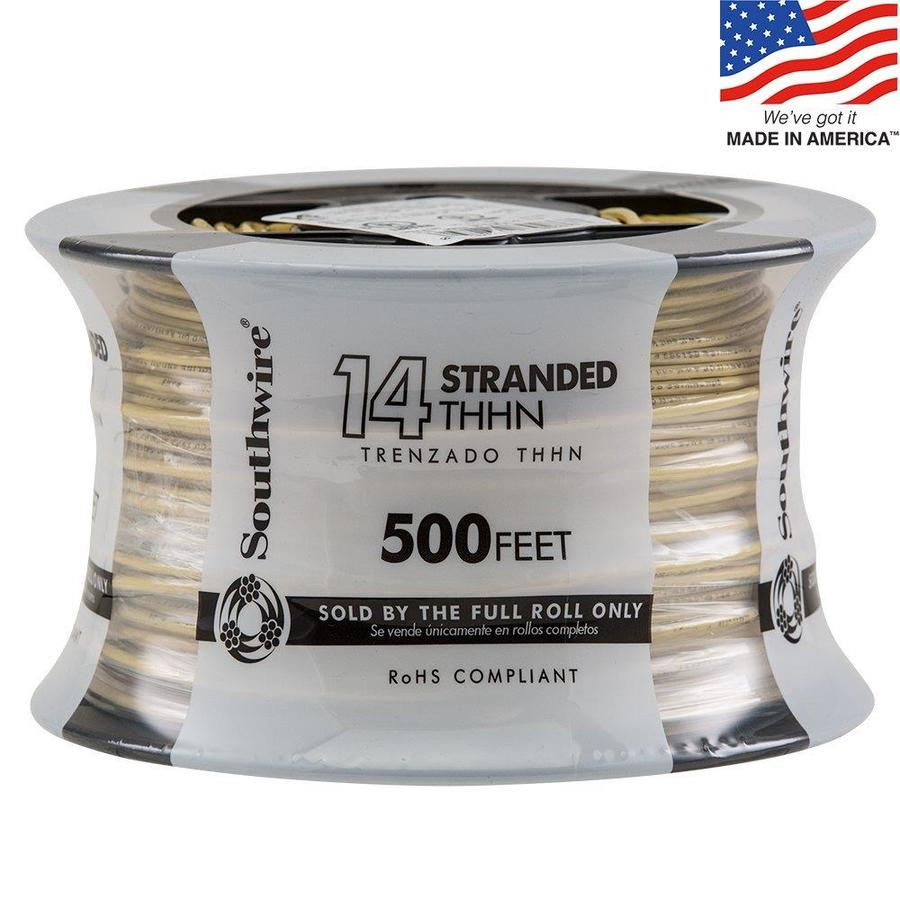 Shop Southwire 500-ft 14-AWG Stranded Yellow Copper THHN Wire (By ...