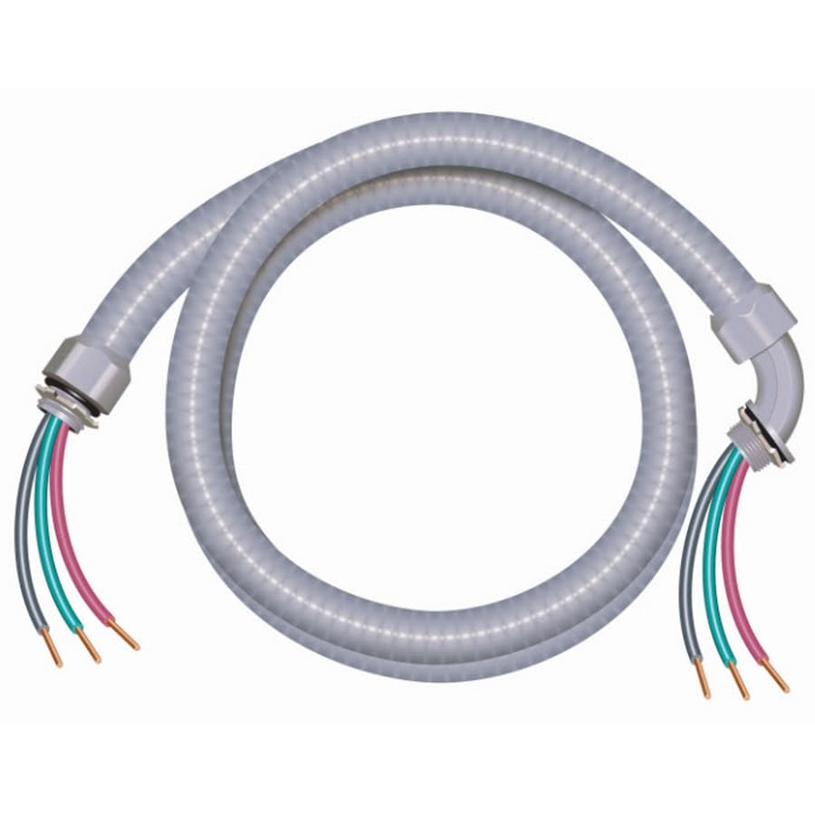 Southwire 6-ft 10-Gauge 3-Conductor Non-Metallic Liquidtight A/C Whip