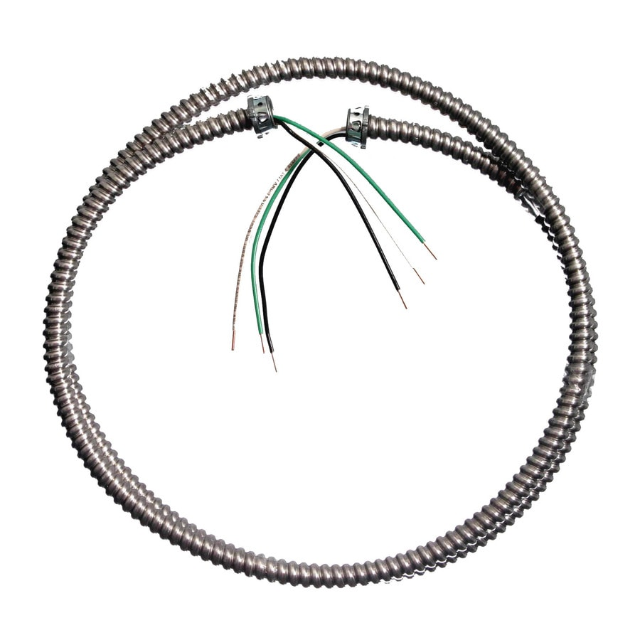 southwire 6 3 8  2 conductor metallic lighting whip electrical