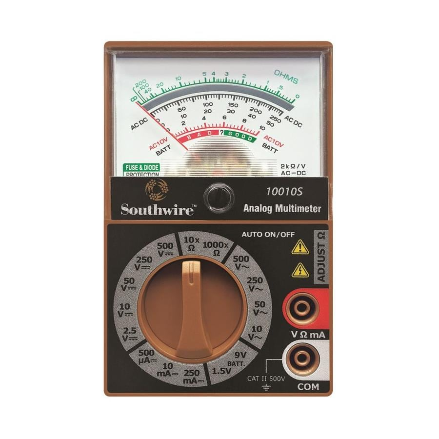 Electrical Multimeters At Lowe S : Shop southwire analog volt multimeter at lowes