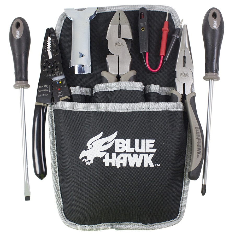 Blue Hawk 8-Piece Electricians Tool Set- Blue Hawk
