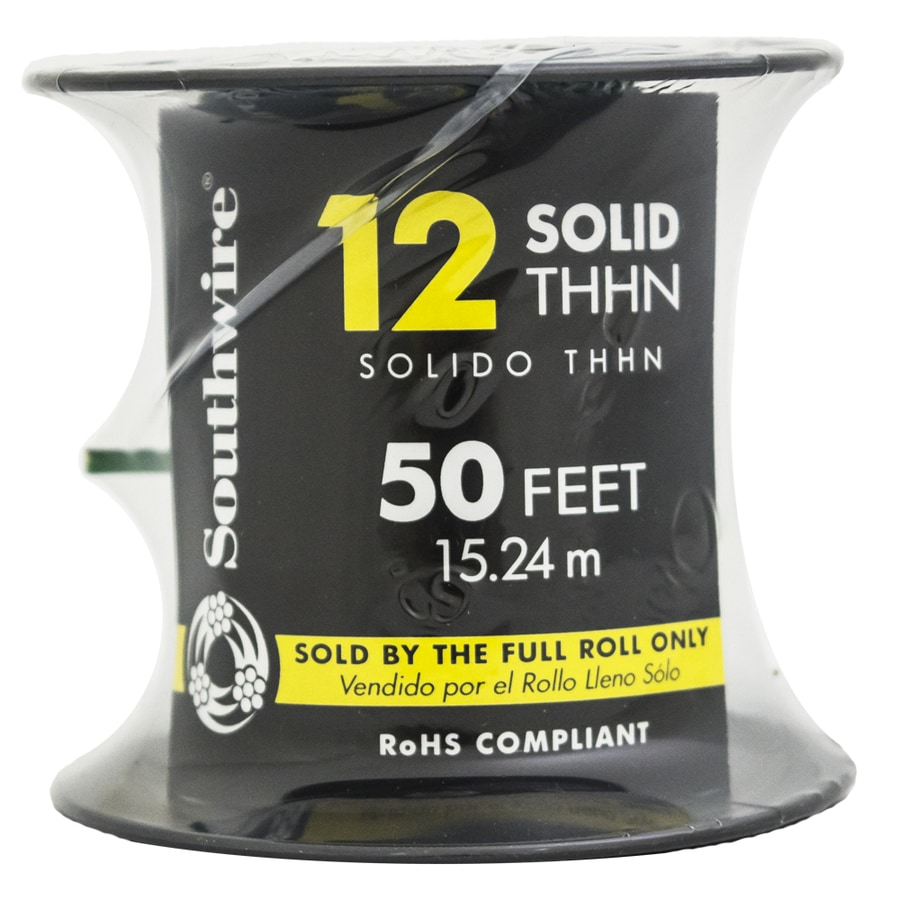 50-ft 12-AWG Solid Green Copper THHN Wire (By-the-Roll)
