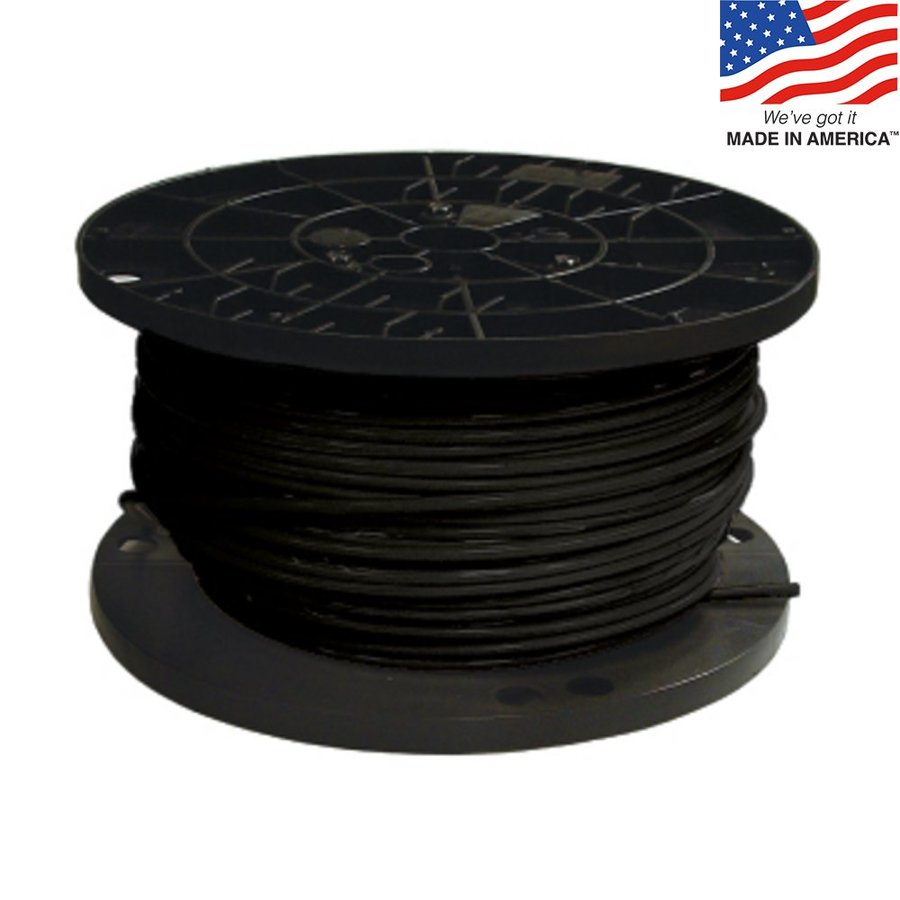 Southwire SIMpull 500-ft 8-AWG Stranded Black Copper THHN Wire (By-the-Roll)