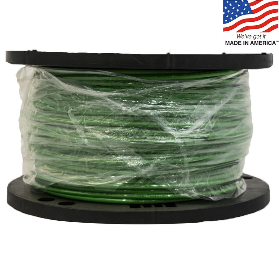500-ft 8-AWG Stranded Green Copper THHN Wire (By-the-Roll)