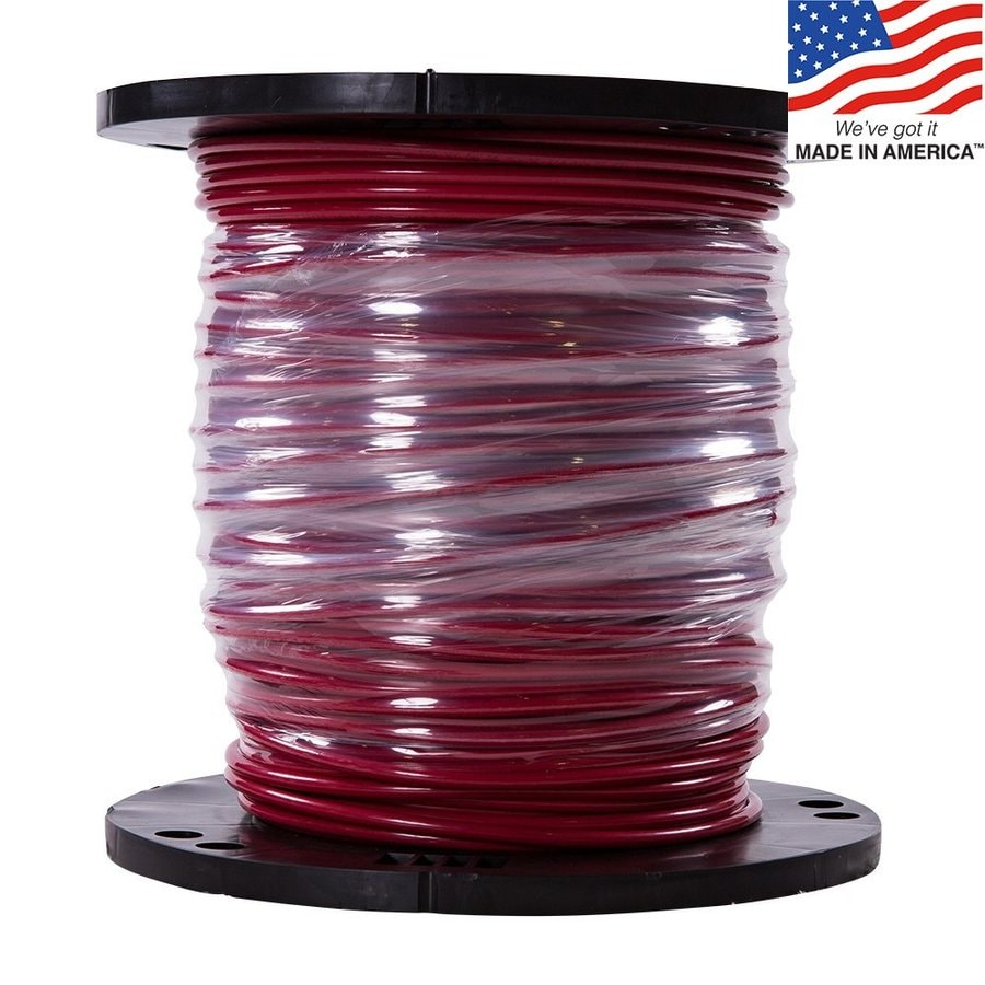 Southwire SIMpull 500-ft 6 Awg Stranded Red Copper THHN Wire (By-the-Roll)