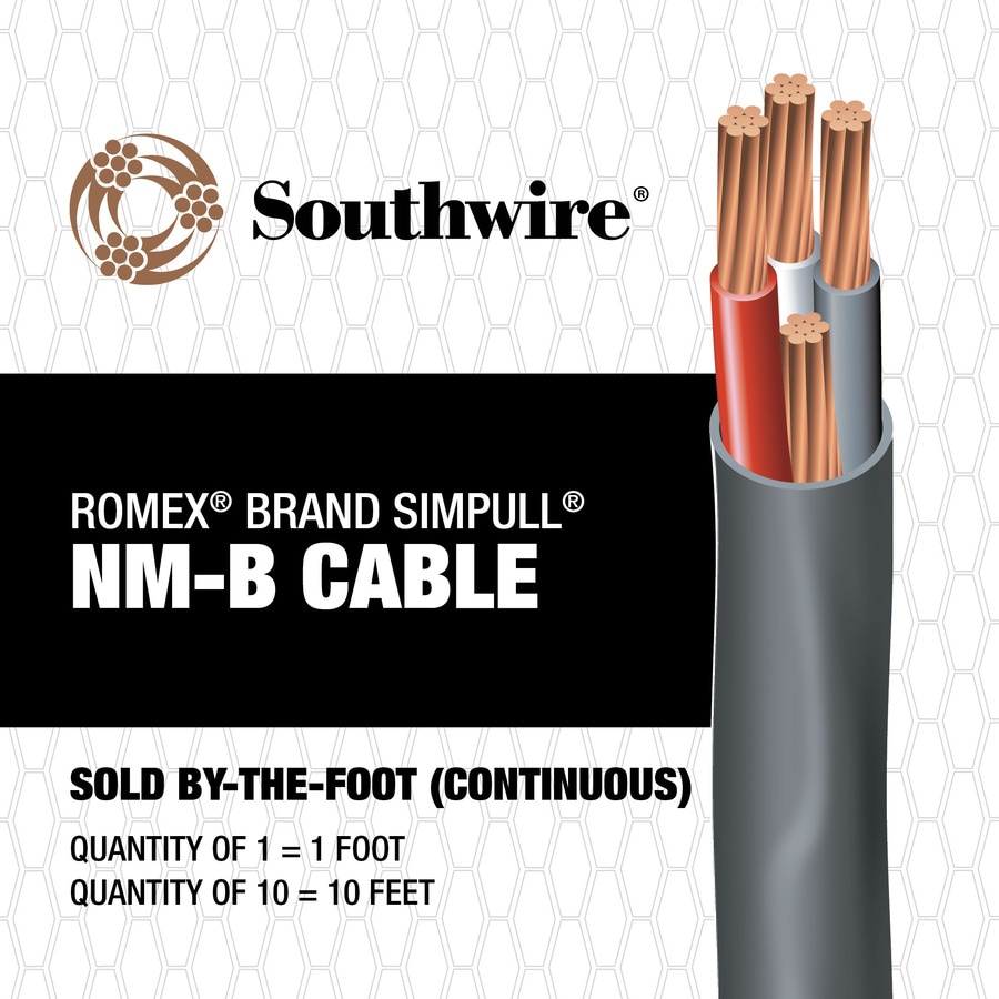 Shop Southwire Romex SIMpull 6/3 Indoor Non-Metallic Jacket Wire (By ...