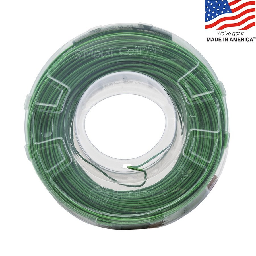 1000-ft 12-AWG Stranded Green Copper THHN Wire (By-the-Roll)